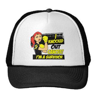 I Knocked Out Osteosarcoma Cancer Mesh Hat