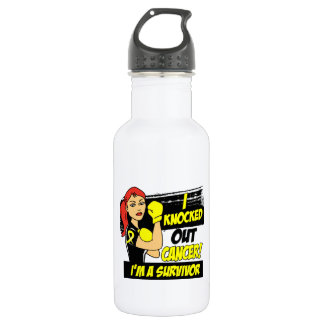 I Knocked Out Sarcoma Stainless Steel Water Bottle
