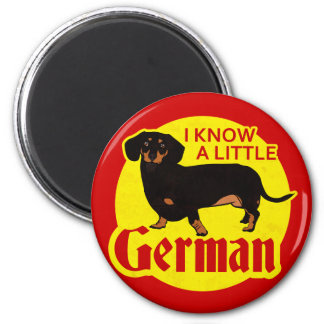 I Know A Little German 2 Inch Round Magnet