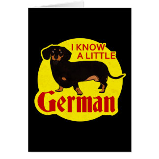 I Know A Little German Card