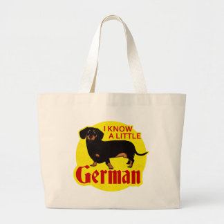 I Know A Little German Large Tote Bag