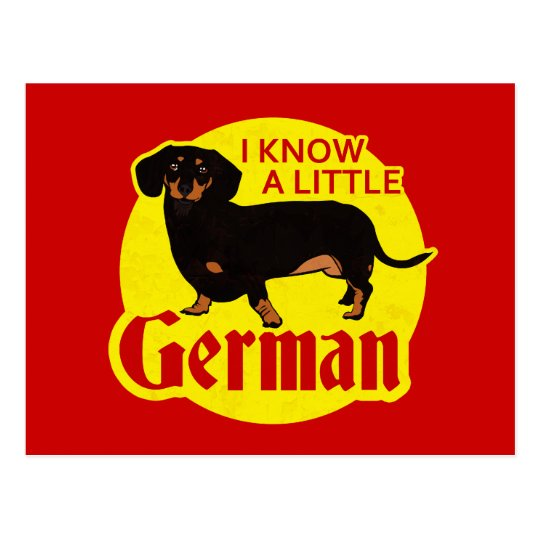 I Know A Little German Postcard
