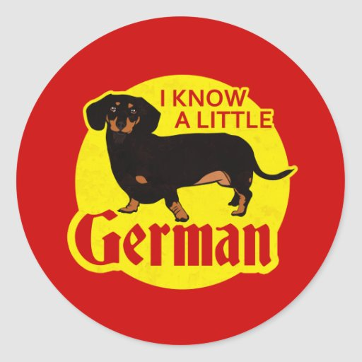 I Know A Little German Stickers