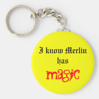 I know... basic round button keychain