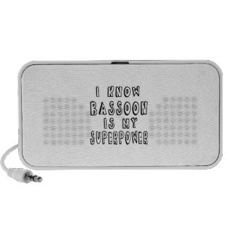 I Know Bassoon Is My Superpower iPhone Speakers