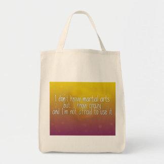I know Crazy Tote Bag
