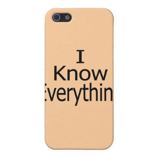 I Know Everything Cover For iPhone SE/5/5s