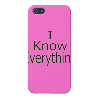 I Know Everything gr Cover For iPhone SE/5/5s