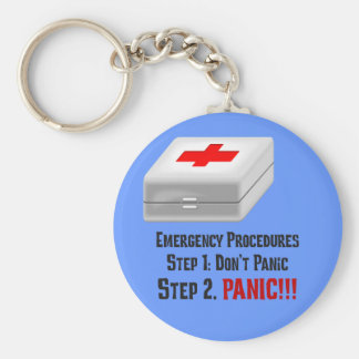I Know First Aid & Can Respond to Your Emergency Basic Round Button Keychain