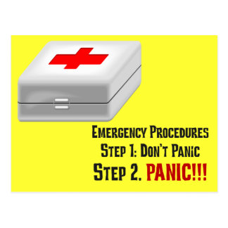 I Know First Aid & Can Respond to Your Emergency Postcard