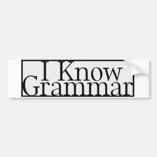 I know grammar car bumper sticker