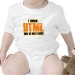I know HTML - How to Meet Ladies Shirts
