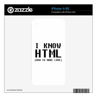 I Know HTML Decals For The iPhone 4
