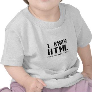 I Know HTML T-shirts