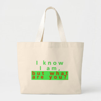 I KNOW I AM CANVAS BAGS