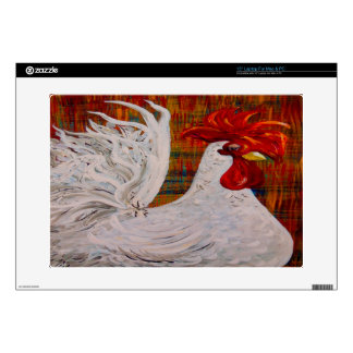 I Know I am Lovely White Rooster Decal For Laptop