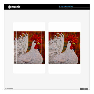 I Know I am Lovely White Rooster Skins For Kindle Fire