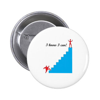 I know I can! 2 Inch Round Button