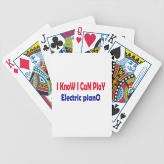 I know i can play electric piano. bicycle card deck