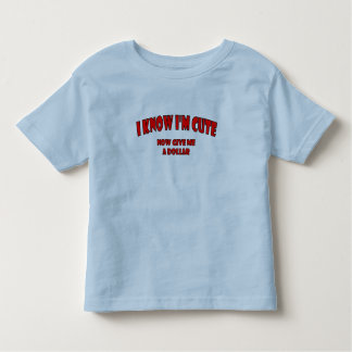 """I Know I'm Cute"" Lil' Kids Collection Tshirt"