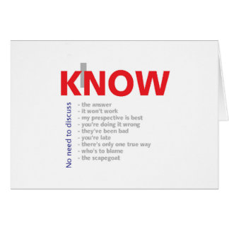I Know It All Card