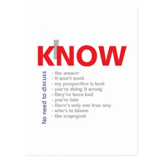 I Know It All Postcard