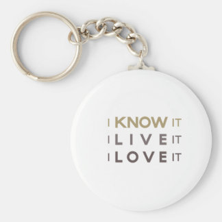 I Know It, I Live It, I Love It Key Chain