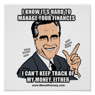 I KNOW IT S HARD TO MANAGE YOUR FINANCES POSTER