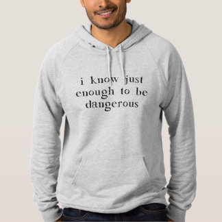 I Know Just Enough To Be Dangerous Hoodie