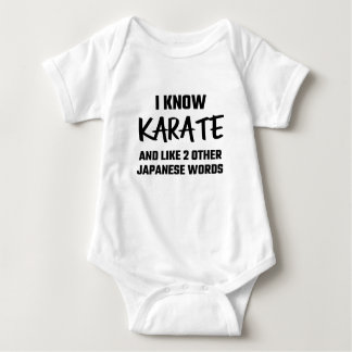 I Know Karate And Like 2 Other Japanese Words Baby Bodysuit