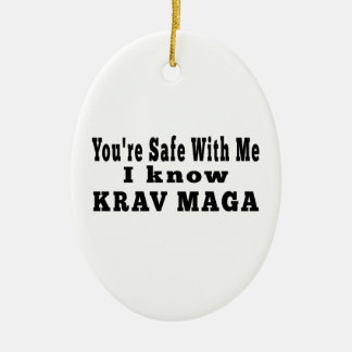 I know Krav Maga Ceramic Ornament