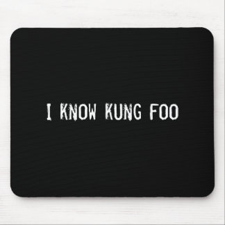 I know kung foo mouse pad