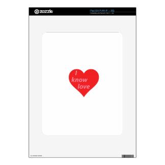 I know love - valentine's gift iPad skin