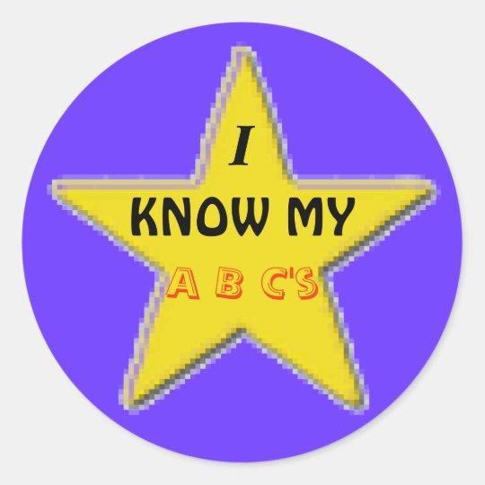 I Know MY ABC's Stickers