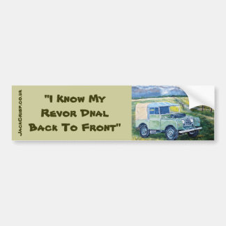 """ I Know My Revor Dnal Back To Front"" Sticker"