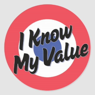 I Know My Value Stickers