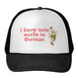 I know nein words in German Trucker Hat