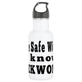 I know Taekwondo 18oz Water Bottle