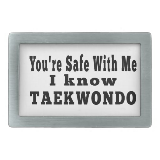 I know Taekwondo Rectangular Belt Buckle