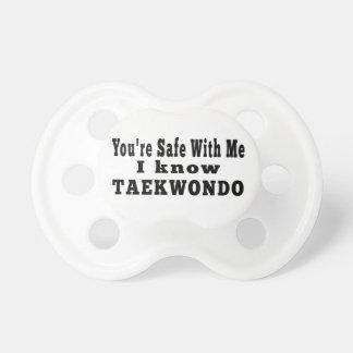 I know Taekwondo Pacifier