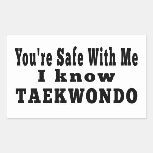 I know Taekwondo Rectangular Stickers