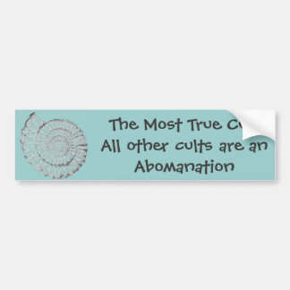 I know the cult is true bumper sticker