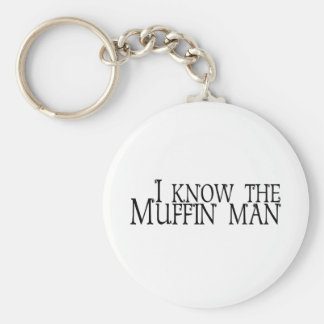 I Know The Muffin Man Basic Round Button Keychain