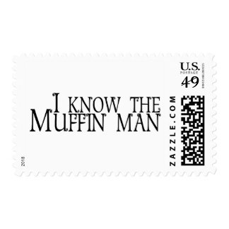 I Know The Muffin Man Postage Stamp