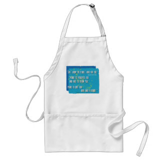 I know the plan I have for you Aprons