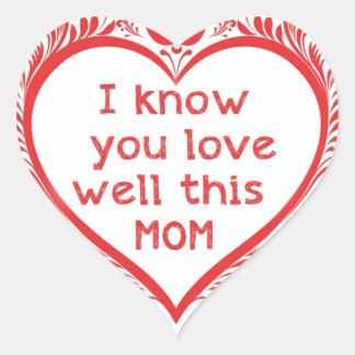 I know u love this mam heart sticker