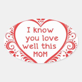 I know u love this mam oval sticker