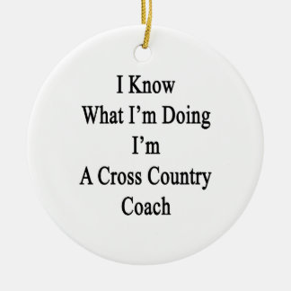 I Know What I'm Doing I'm A Cross Country Coach Ceramic Ornament