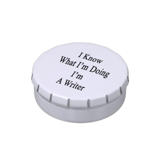 I Know What I'm Doing I'm A Writer Jelly Belly Tin