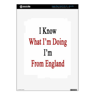I Know What I'm Doing I'm From England Decal For iPad 3